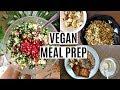 הכנת אוכל לכל השבוע // תפריט שבועי טבעוני, בריא וטעים!