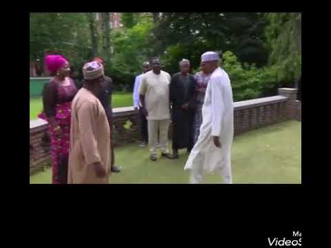 Nigeria Pres Buhari Step Out Of Room Take Photo With Visitor