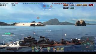 元鋼鉄艦長が乗るWoWs@駆逐艦グレミャーシチイで行くver13 自己最高★3357取得マッチ