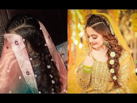 Aiman Khan\u0027s Inspired Hairstyle/ Mehndi Bridal Hairstyle