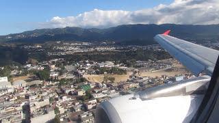 A319 Avianca landing in Guatemala City