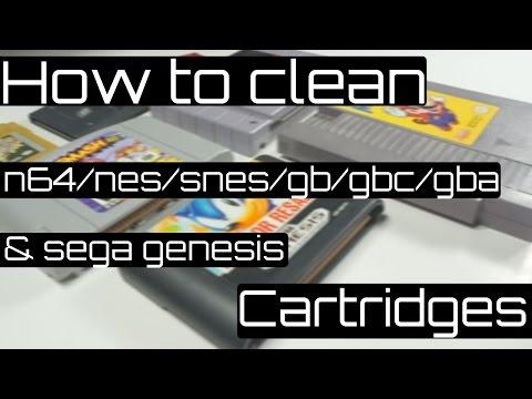 How to Clean N64/NES/SNES/GB/GBC/GBA & Sega Genisis Cartridges