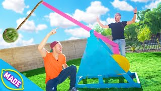 We Made a Giant Catapult!!