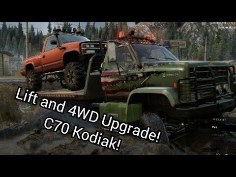 Snowrunner Lift 4wd Upgrade Kodiak C70 Youtube