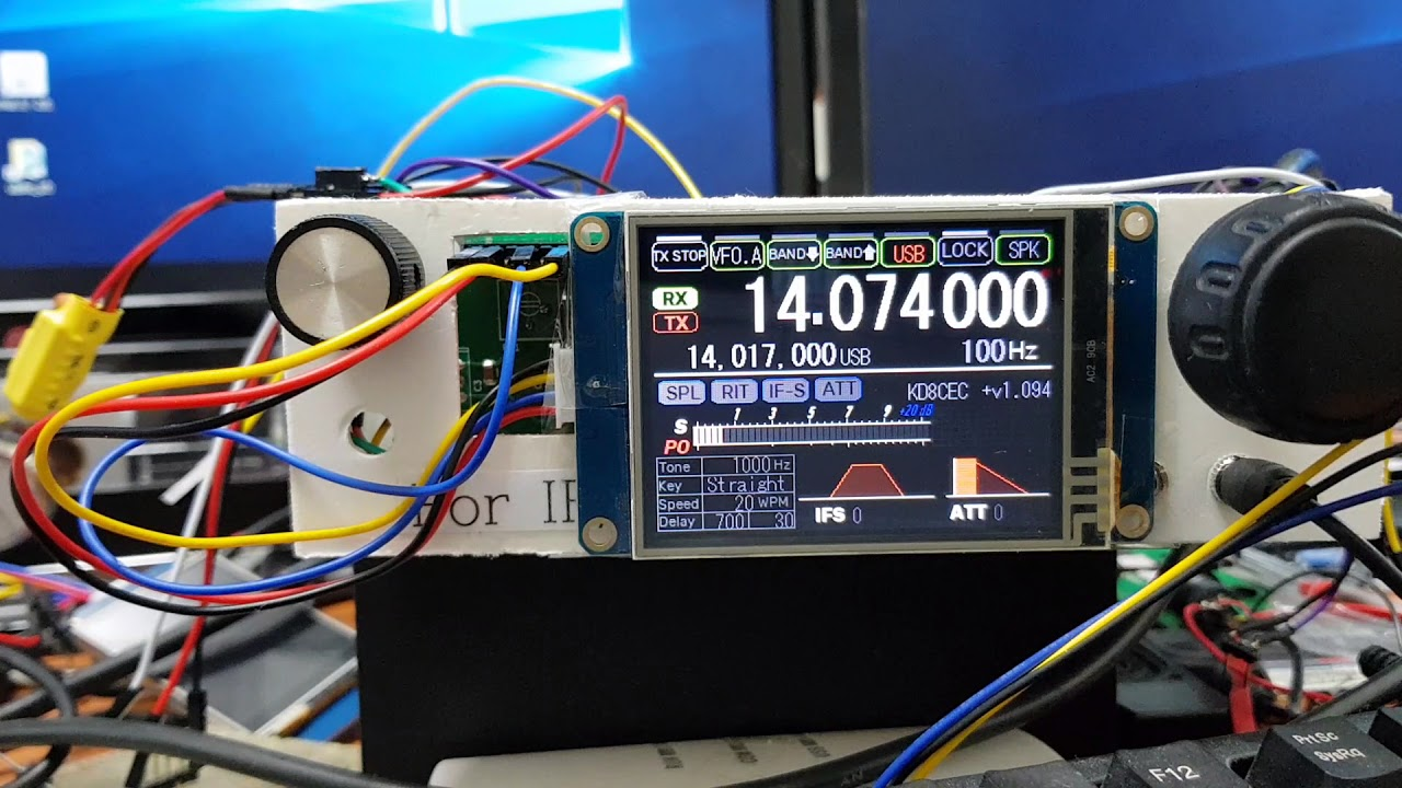 uBITX with Nextion LCD, TJC LCD and Factory Reset Test