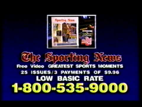 THE SPORTING NEWS COMMERCIAL -