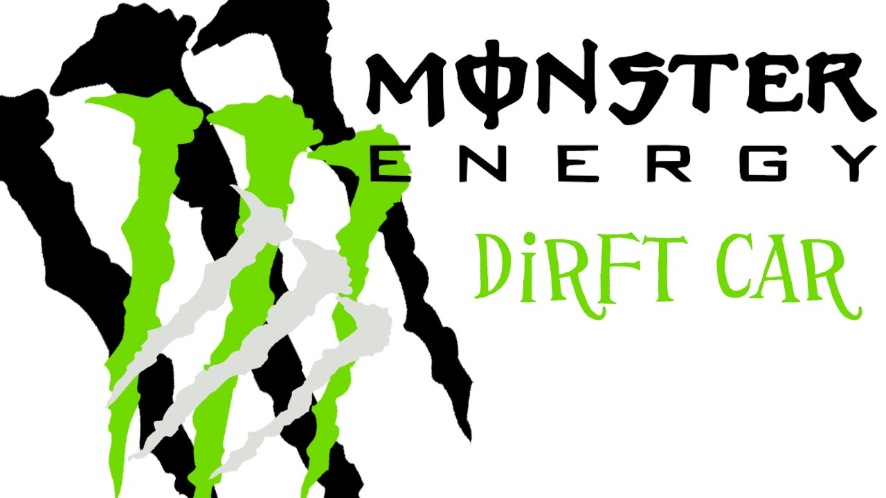 Monster energy drift car decal showcase