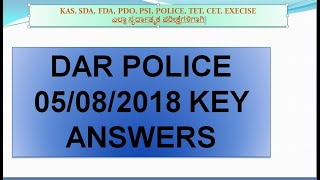 DAR 05/ 08/ 2018 KEY ANSWERS