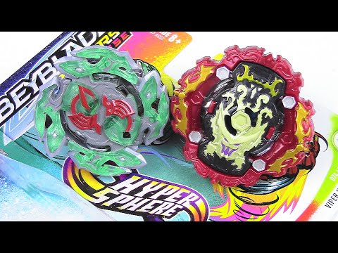 VIPER HYDRAX & DULLAHAN 2-pack QR CODE Unboxing Review Battle!! Beyblade Burst Rise Hypersphere