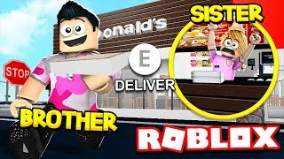 SISTER Vs BROTHER BLOXBURG JOBS CHALLENGE!! (Roblox)