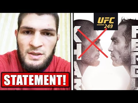 Khabib Says He's OUT OF UFC 249 (Video Statement From Khabib)