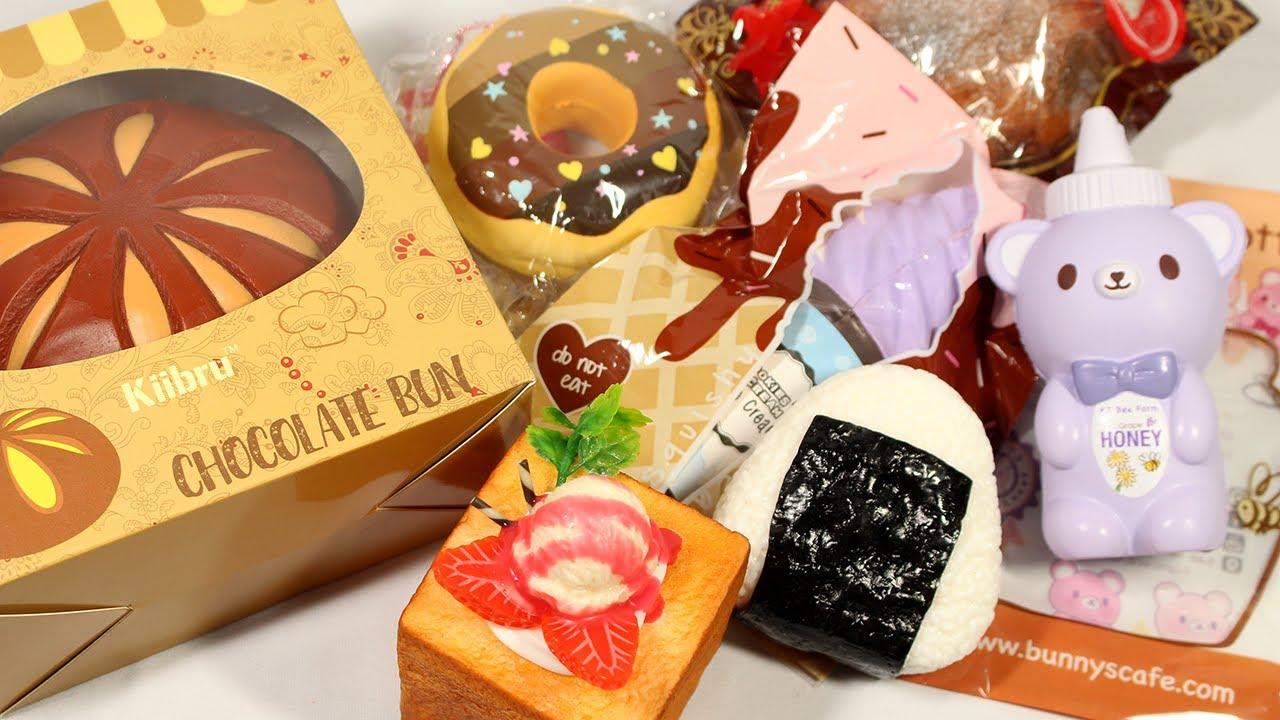 Chocolate Bun And Onigiri Squishy Package 29 Banggood And Squishyshop Com