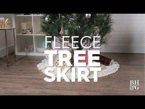 Fleece Tree Skirt | Made By Me Crafts | Better Homes & Gardens
