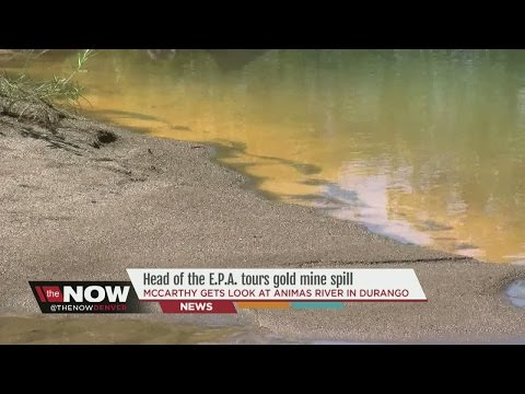 Head of the EPA tours King Gold Mine spill