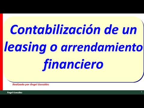 (23) Contabilización del leasing o arrendamiento financiero.