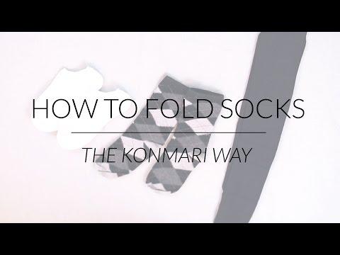 how to fold socks doovi. Black Bedroom Furniture Sets. Home Design Ideas