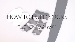 How to Fold Socks & Stockings | KonMari Method by Marie Kondo