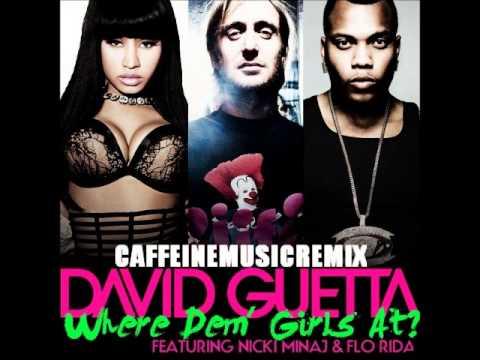 David Guetta Ft.Nicki Minaj And Flo Rida - Where Dem Girls At (sped Up)
