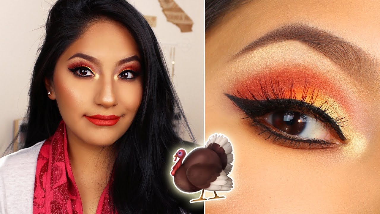 THANKSGIVING DAY Makeup Tutorial!!! QUICK \u0026 EASY (2017)