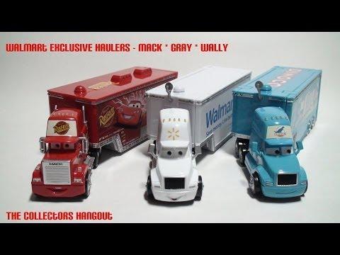 disney pixar cars trucks walmart wally hauler mattel diecast semi haulers toys youtube - Disney Cars Toys Truck
