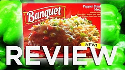 Banquet Pepper Steak Meal Video Review: Freezerburns (Ep512)
