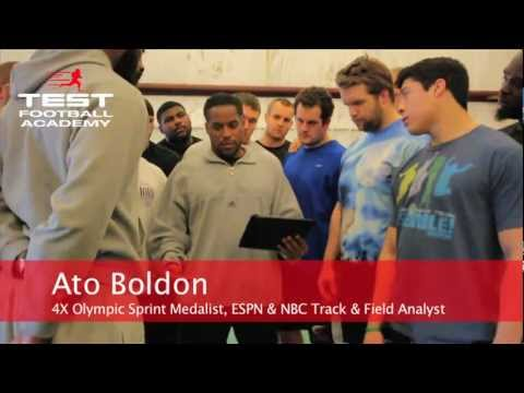Ato Boldon 2013 NFL Combine Speed Training 40 YD Dash @ TEST Football Academy 720p HD
