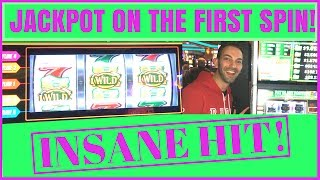 🎉 JACKPOT on the FIRST SPIN ✦ BEST FIRST SPIN EVER! ✦ San Manuel Casino