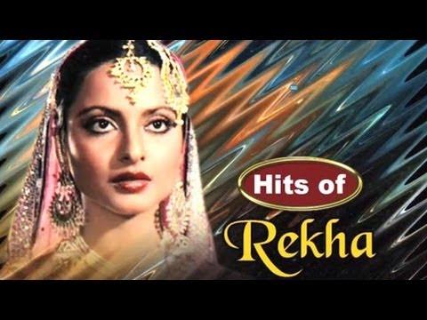 Super Hit Songs of Bollywood Stars 14 - Rekha - YouTube