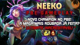 NOVO CHAMPION - NEEKO - A MAGA MAIS ROUBADA JÁ FEITA? ULTIMATE INACREDITÁVEL! - NEEKO MID GAMEPLAY