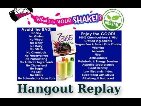 What's in your SHAKE?  Go Green Hangout - Essante Organics Protein Shake