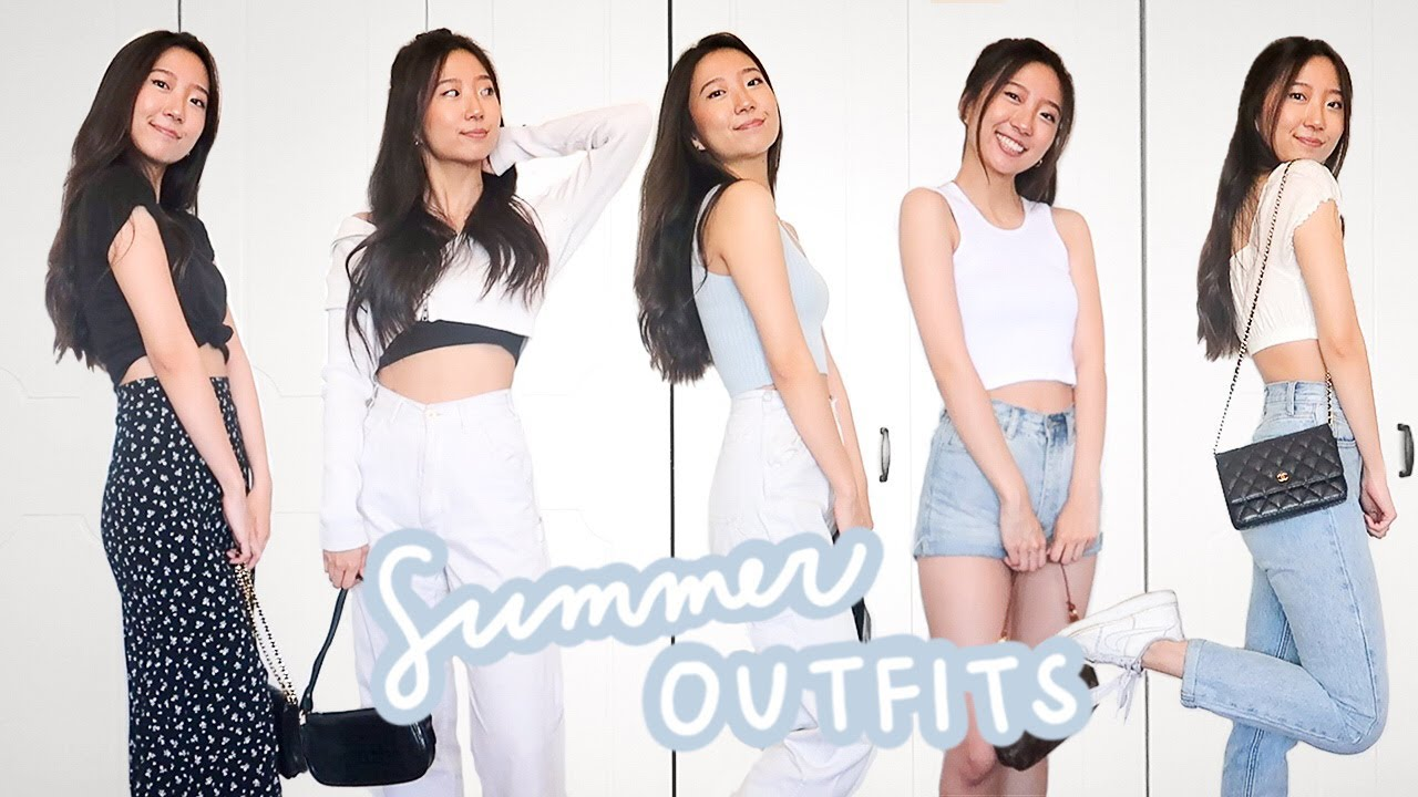 12 simple but cute summer outfits 🍋 | brandy melville lookbook