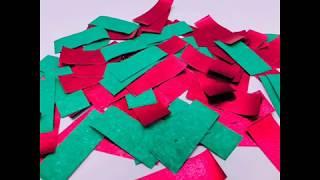 Boomwow shiny red+green confetti paper