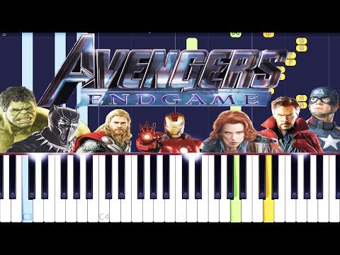 Avengers 4 : Endgame Official Trailer Music Piano Tutorial EASY (Piano Cover) 2019 thumbnail