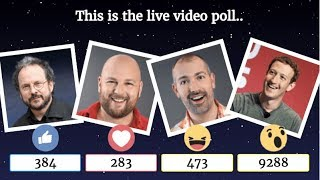 How to Create Facebook Live Reactions Poll with Count. | Live Stream Test