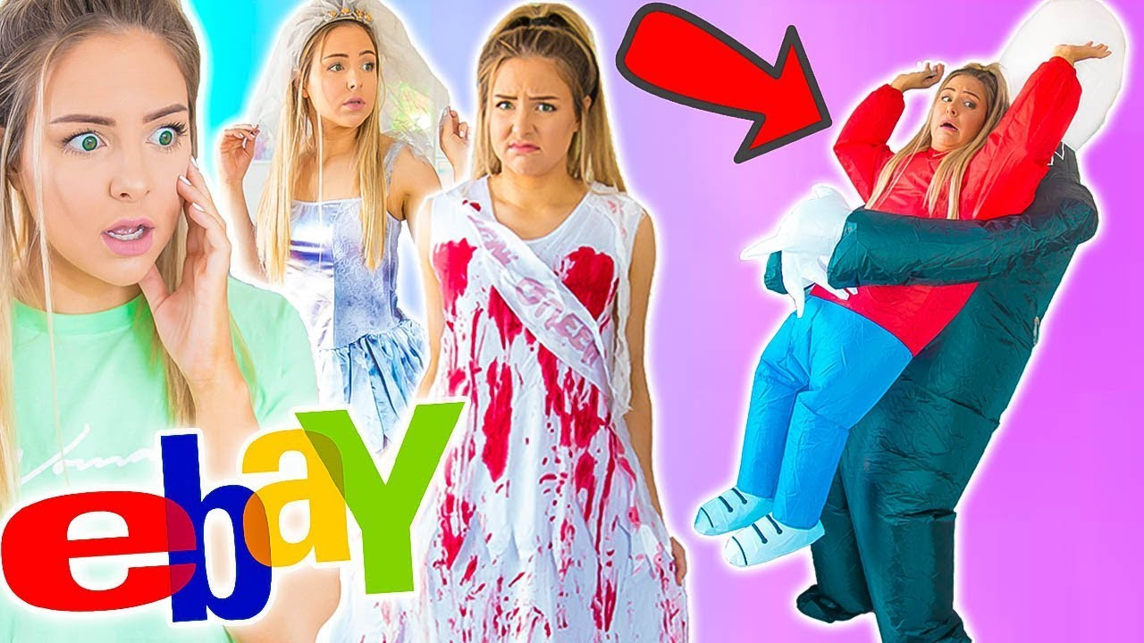 3b8fdf6cd4 Trying On Halloween Costumes From Ebay - YouTube
