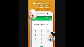 Nextplus Free unlimited SMS Text + Calls ( free US phone number ) Tach This screenshot 2