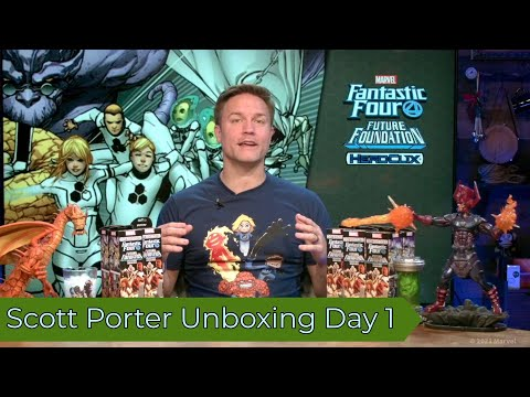 Marvel HeroClix: Fantastic Four Future Foundation Unboxing with Scott Porter- Day 1
