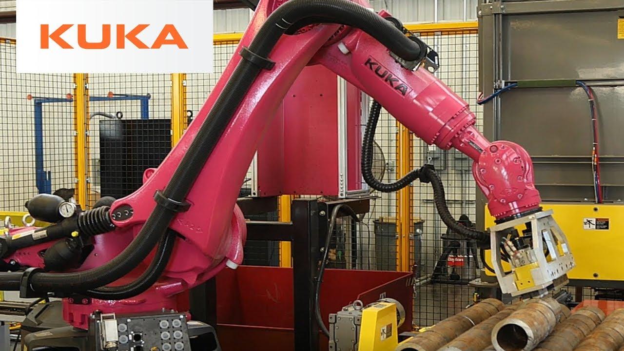 Fast Robotic Handling Of Metal Tubes With Kuka Robot Youtube