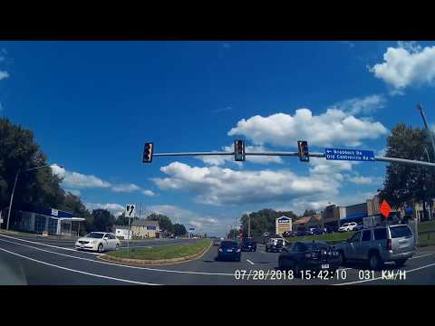 Uber driving Northern Virginia Lee Hwy from Centreville to Fairfax