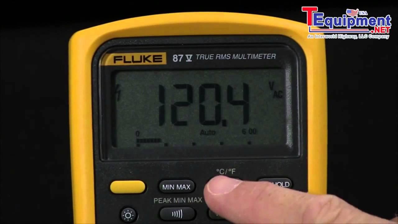 fluke 87v how to switch auto to manual current ranges youtube rh youtube com fluke 87 iii true rms multimeter user manual fluke 87 iii multimeter manual