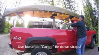 Tying A Canoe To A Roof Rack