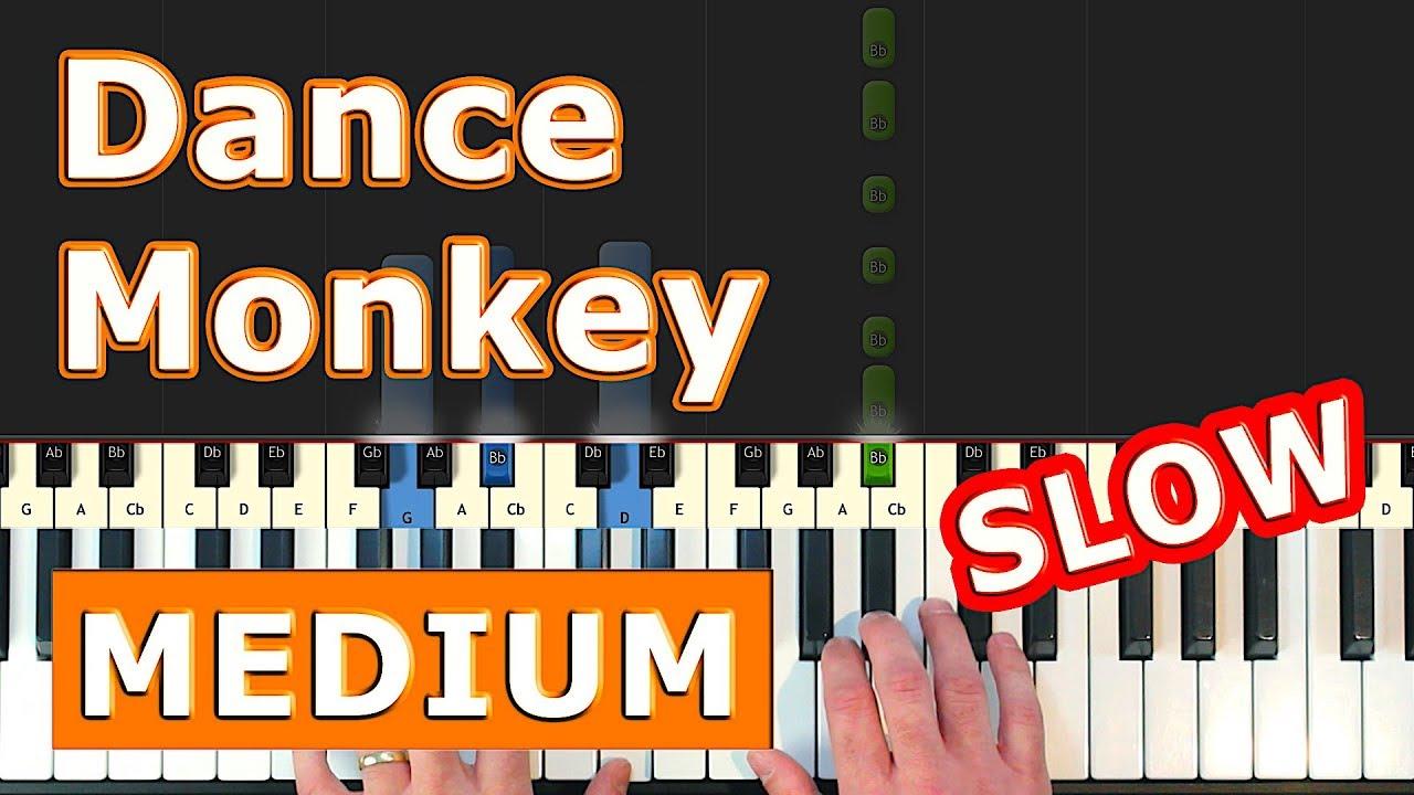 Tones And I Dance Monkey Slow Piano Tutorial Easy Sheet Music Youtube