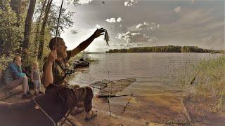 Большая Рыбалка Всей Семьёй и Трое Суток на Диком Берегу! Там где Чудища живут.Часть 1.