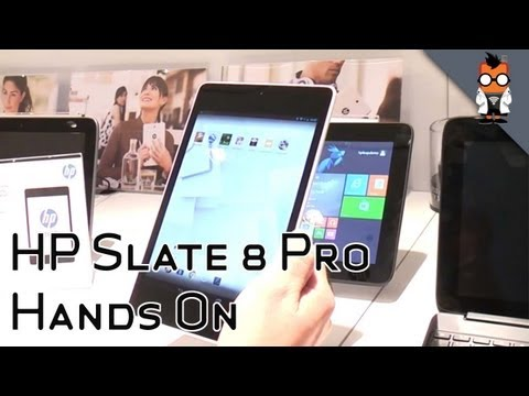 HP Slate 8 Pro - Tegra 4 quadcore Android tablet with 4:3 screen at 1600x1200 pixels