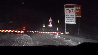 Belluno, guidando nella bufera di neve: le immagini dalla camera car