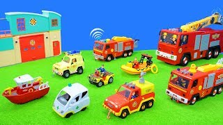 Fireman Sam Unboxing: Pontypandy New Greatest Fire Engine, Fire Trucks, Boats & Helicopter For Kids