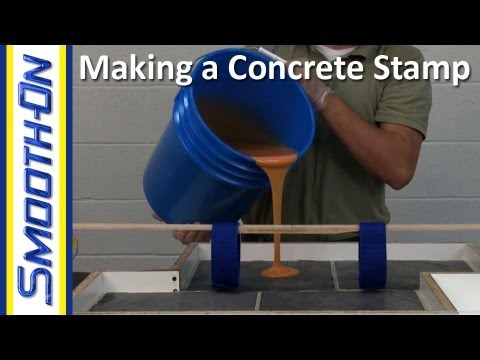 How To Make A Custom Concrete Stamp Out Of Urethane Rubber