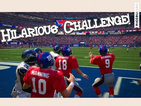 Who Can Catch a Hail Mary First in the MANNING Family? PEYTON, ELI, or ARCHIE? MADDEN 16 CHALLENGE