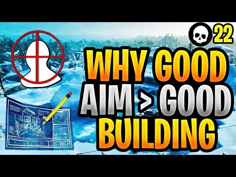 Why Aim Is Now More Important Than Building In Fortnite! (Fortnite Good Aim vs. Fast Building)