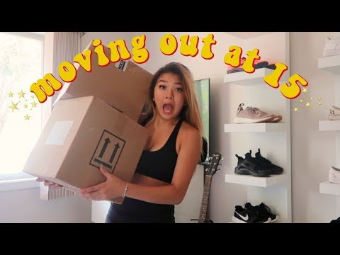 MOVING OUT AT 15 | vlog #1 | maiphammy